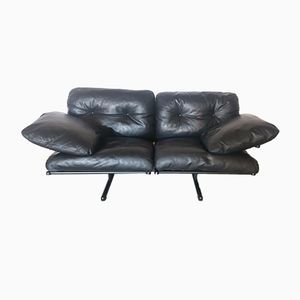 Vintage Ouverture Leather Sofa by Pierluigi Cerri for Poltrona Frau, 1980s