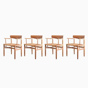 537 Oresund Oak Dining Chairs by Børge Mogensen for Karl Andersson & Söner, 1950s, Set of 4