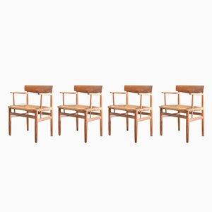 Sedie da pranzo nr. 537 in quercia di Oesund di Børge Mogensen per Karl Andersson & Söner, anni '50, set di 4