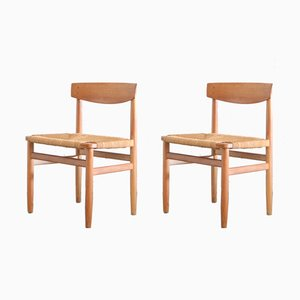 537 Oresund Oak Dining Chairs by Børge Mogensen for Karl Andersson & Söner, 1950s, Set of 2