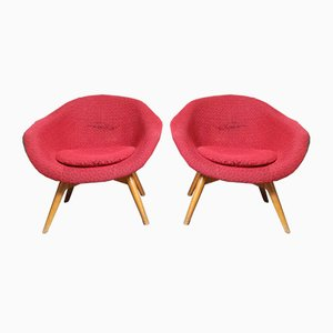 Fibreglass Shell Chairs by Frantisek Jirak, 1960s, Set of 2