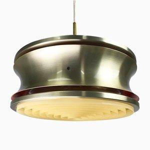 Lámpara de techo danesa vintage de latón