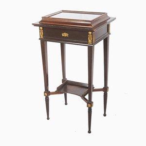 Mesa consola modernista antigua de madera dura