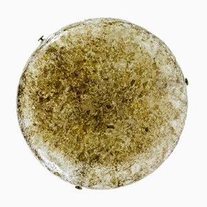 Lámpara colgante Mid-Century de cristal de hielo de Kaiser, años 60