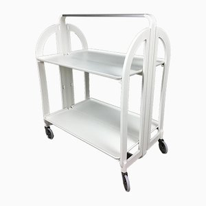 Vintage Foldable Trolley Bar Cart from Guzzini, 1970s