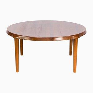 Tavolino da caffè rotondo in teak di John Boné per Mikael Laursen, anni '60