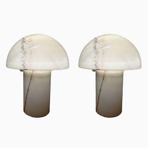Lampade da tavolo vintage a fungo di Peill & Putzler, anni '70, set di 2