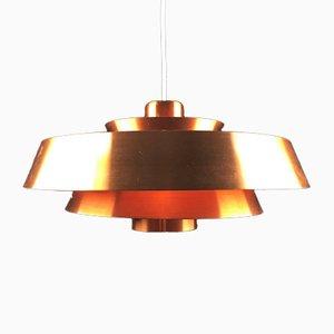Lampada da soffitto Nova in rame di Jo Hammerborg per Fog & Mørup, anni '60