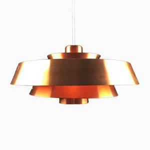 Nova Deckenlampe aus Kupfer von Jo Hammerborg für Fog & Mørup, 1960er