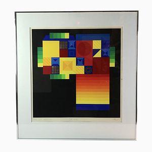 Danish Lithograph by Karl Åge Riget, 1986