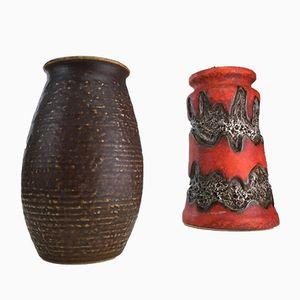 Deutsche Mid-Century Vase von Jasba, 1970er