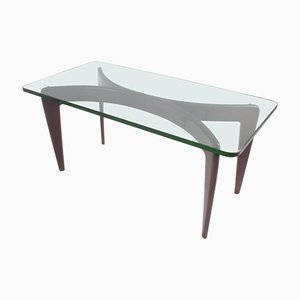 Beveled Crystal Glass Coffee Table by Gio Ponti for Fontana Arte, 1936