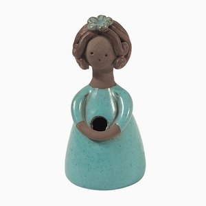 Vintage Glazed Ceramic Flower Vase by Colette Gueden, 1950s