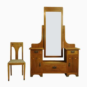 Danish Dressing Table with Chair, 1930s