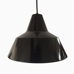 Vintage Danish Metal Suspension Lamp from Fog & Mørup