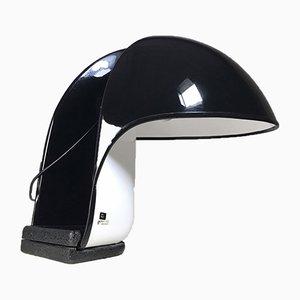 Schwarz-weiße Albanella Tischlampe von Segio Brazzoli & Ermanno Lampa für Guzzini, 1970er