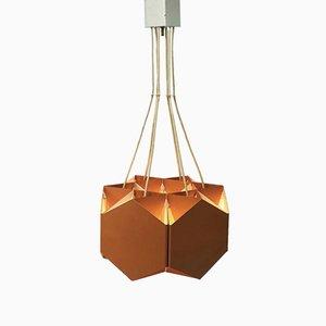 Lámpara de araña danesa geométrica de Ole Panton para Lyfa, años 60