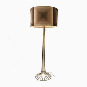 Lámpara de pie Mira X danesa de Verner Panton para Fritz Hansen, 1976