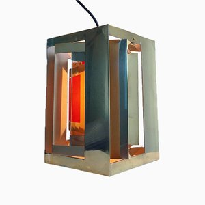 Modell Kassablanka Deckenlampe aus Messing von Simon Henningsen für Lyfa, 1960er