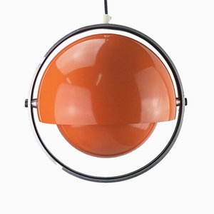 Danish Space Age Moonlight Series Pendant Lamp by Brylle & Jacobsen for Quality System, 1960s