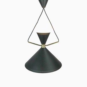Lámpara colgante MCM danesa de Bent Karlby para Lyfa, años 50