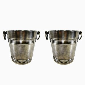 Vintage Wagon Lits Ice Buckets from Christofle, Set of 2