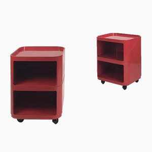 Italian Componibili Storage Units or Nightstands by Anna Castelli Ferrieri for Husqvarna, 1970s, Set of 2