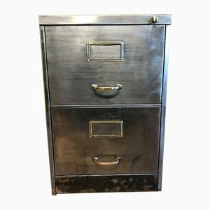 Vintage Industrial 2-Drawer Filing Cabinet