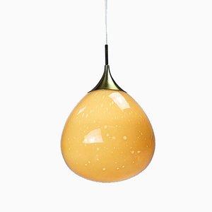 Lámpara de techo en forma de lágrima de vidrio con burbujas de Doria Leuchten, años 60