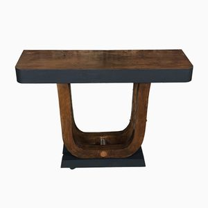 Art Deco Walnut Console