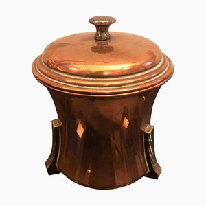 Art Deco British Copper and Brass Tea Caddy