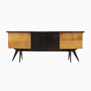 Aparador italiano Mid-Century con mueble bar, años 50