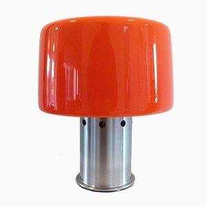 Vintage Tischlampe mit Glasschirm