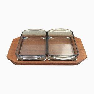 Mid-Century Cabaret Snack-Tablett Set von Holmegaard