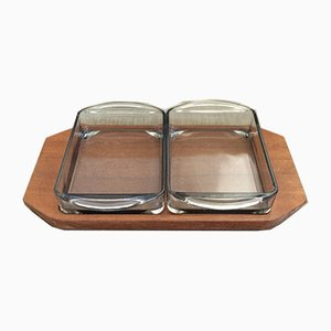 Mid-Century Cabaret Snack Tray Set from Holmegaard