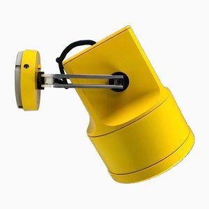 Gelbe Storebror Unispot Wand- oder Deckenlampe von Louis Poulsen, 1970er