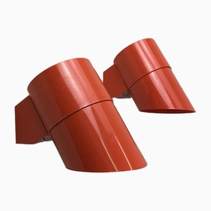 Space Age Wall Sconces by Svend Middelboe for Nordisk Solar, Set of 2