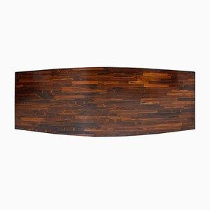 Jorge Zalszupin Moderne Rechteckige Jacaranda Holz Guanabara Tischplatte aus Brasilianischem Holz