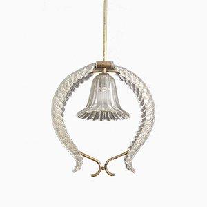 Lampe à Suspension Art Déco de Venini, 1930s