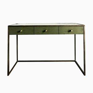 Novasuede, Marble & Antique Bronze Eros Desk by Casa Botelho
