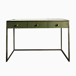 Novasuede, Marble & Antique Bronze Eros Desk by Casa Botelho