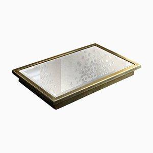 Kleines Vulcano Tablett mit antikem Spiegelglas von Casa Botelho