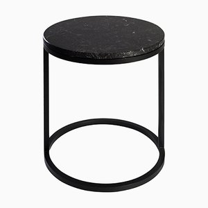 Modern Diana Round Coffee Table with Powder Coated Steel and Marble by Casa Botelho
