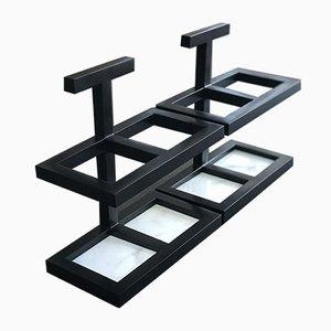 Jabonera Vulcano estilo Art Déco en negro de Casa Botelho