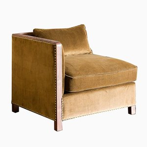Cupid Corner Chair in Walnut and Luxe Velvet by Casa Botelho