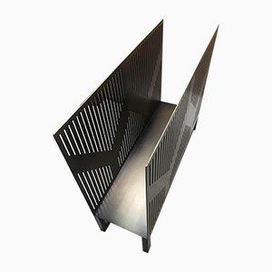 Porte-Revues Vulcano Style Art Déco en Laiton par Casa Botelho