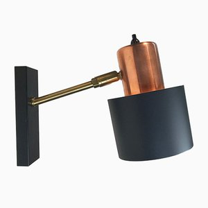 Copper Sconce by Jo Hammerborg for Fog & Morup, 1960s