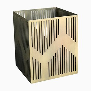 Small Art Deco Style Electroplated Vulcano Paper Bin or Planter by Casa Botelho