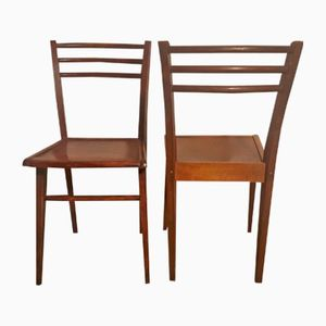 Vintage French Side Chairs from Stella, 1950s, Set of 2