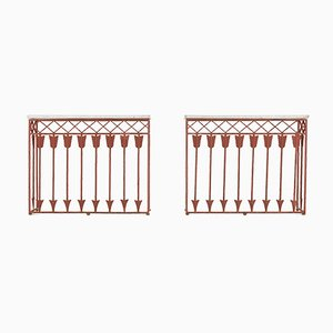 19th Century French Iron Consoles, Set of 2